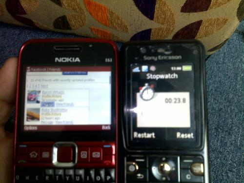 Facebook Friends page (23.8 seconds with Smart gprs)