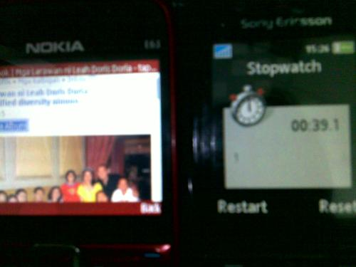 FAcebook viewing picture (39.1 seconds with Globe gprs)