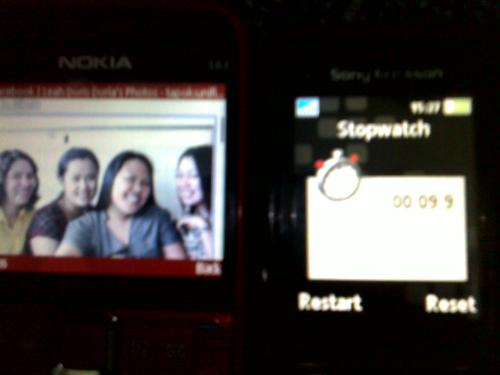 FAcebook shortest download time for picture (9.9 sec with Globe gprs)