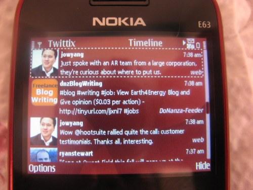 Twittix Timeline User Interface