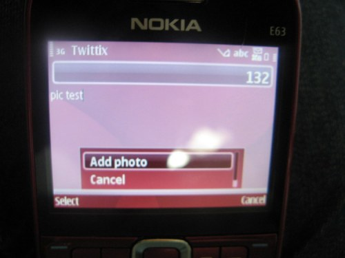Twittix Add photo feature