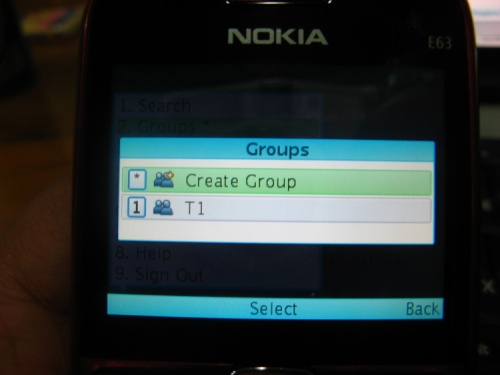 Snaptu's TWitter Create group function