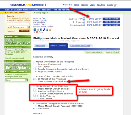 Philippines Mobile Market Overview & 2007-2010 Forecast