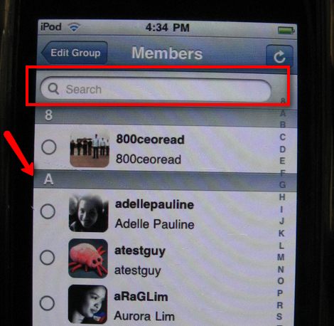 TwitBird Add Group Feature
