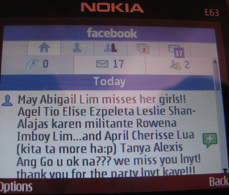 My Nokia E63 Diary | Mobile Tweeting in Philippines | Page 2